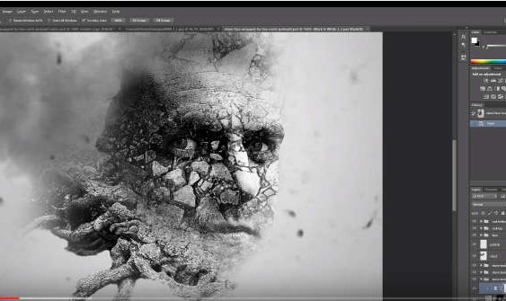 How to Apply Stone Texture to Human Face in Photoshop