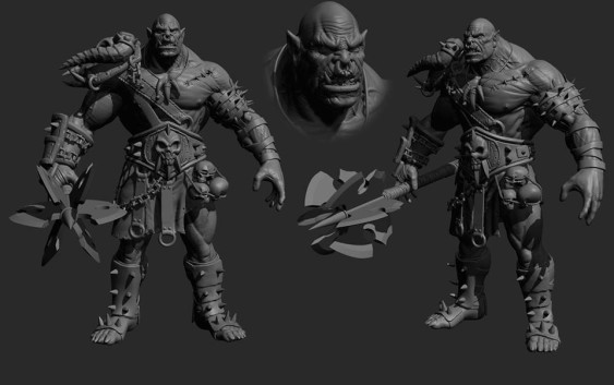 Makingof and Sculpt of Orc In Zbrush