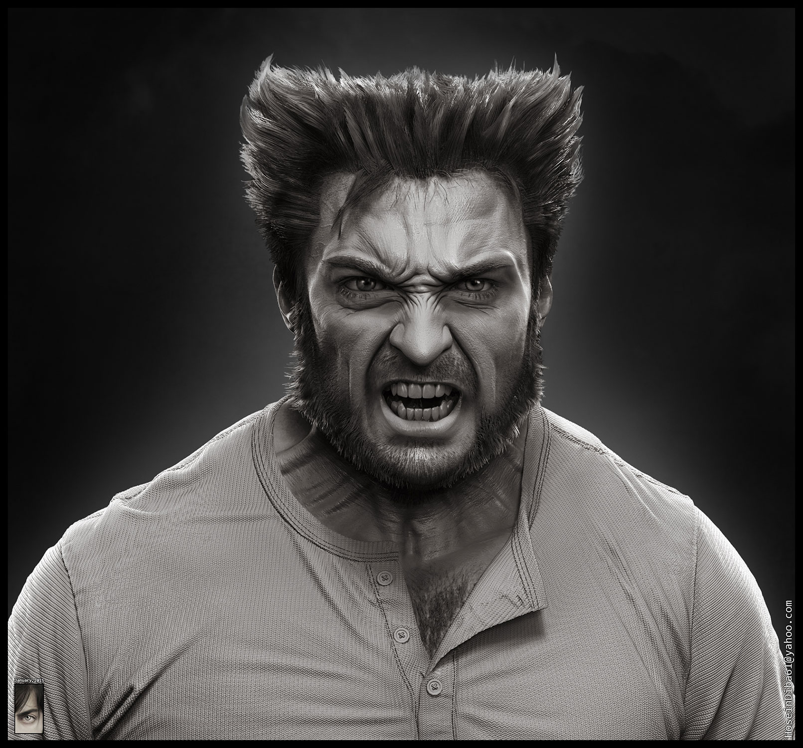 Making Of Wolverine Character With Zbrush By Hossein Diba