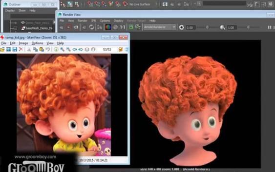 Making of Dennis Curly Hair Groom Using Groomboy Toolsets