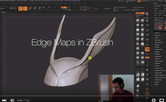 Create Edge Maps in ZBrush