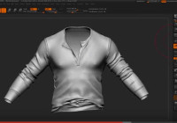 ZBrush Detailing Clothes – Select Polygroups by UV + NoiseMaker