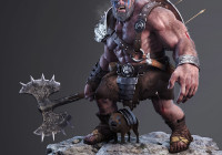 "Makingof 3d realistic model ""The Barbarian'  By Ivo Diependaal"