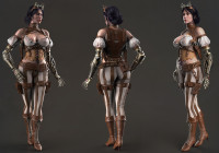 Makingof 3d realistic model Lady Mechanika