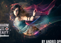 Photoshop tutorial-Beautiful lady with flowing light effects