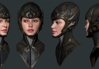 Sci-fi 3D Girl Breakdowns by MAJID ESMAEILI