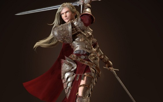 Making of Female Realistic Model Knight