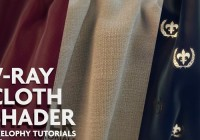 V-Ray cloth shader tutorial