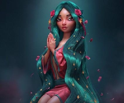 3d Female realistic art work by Carlos Ortega Elizalde